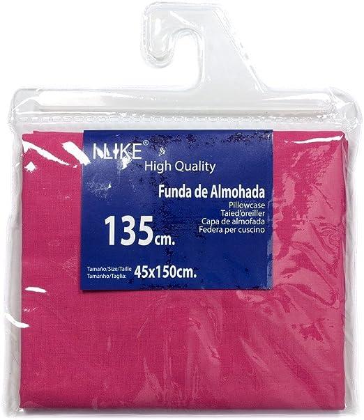 I LIKE® Funda DE Almohada Fucsia 100% ALGODÓN Cama 135 (45 X 150 cm): Amazon.es: Hogar