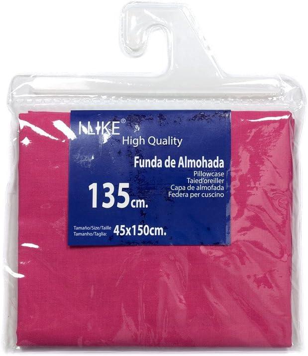I LIKE® Funda DE Almohada Fucsia 100% ALGODÓN Cama 135 (45 X 150 ...