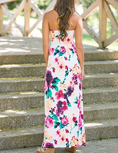 Sitengle Mujer Vestidos Largo Florales Impresa con Envuelto Pecho Para Playa Vacation Bohemia Vestido Color 1