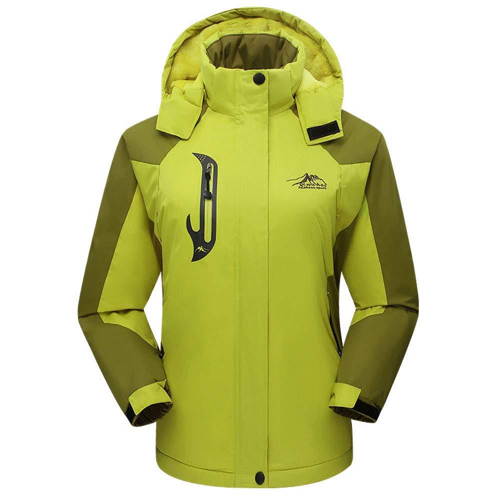 Leewa Long Winter Jacket Women Windproof Coat Waterproof Print Hooded Jackets Thermal Down Jacket Ski Snow Jacket with Zipper Closure Women Windbreaker Jackets Outerwear