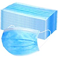Decdeal Disposable 3 layer Non-woven Anti-Particle Anti-droplet Anti-pollen Dust-proof Breathable Dustproof, Pack of 50