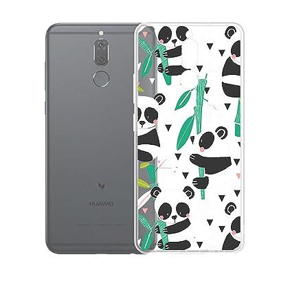 Funda para Huawei Mate 10 Lite Carcasa , YIGA Moda Panda Bamboo Caso Cristal Transparente Funda TPU Gel Cubierta De Silicona Suave Tapa Case Cover ...