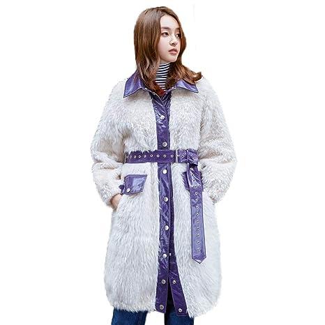 quality design 53a95 e7e18 Cappotti Giacche Lana di Lana Pelliccia Lungo di Sezione ...