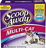Scoop Away Multi-Cat, Scented Cat Litter, 25 Pound Carton