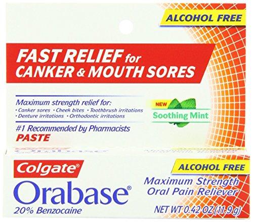 Colgate Orabase Paste Alcohol Soothing
