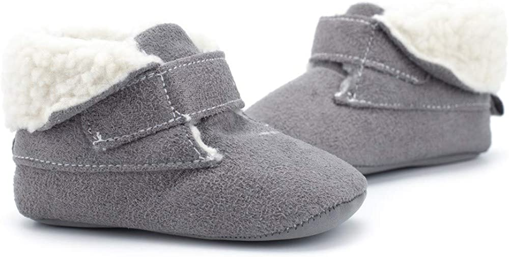 Infant//Toddler Lurryly❤Baby Premium Soft Sole Warm Winter First Walkers Prewalker Shoes