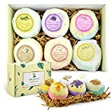 Miuphro Bath Bombs, Handmade Fizzies Bomb for Bubble Bath Spa for Relaxing, Moisturizing Dry Skin-Natural Essential Oil, Shea&Coco Butter, Best Gift Ideas for Wife, Girlfriend, Women and Mom (6 Pack)