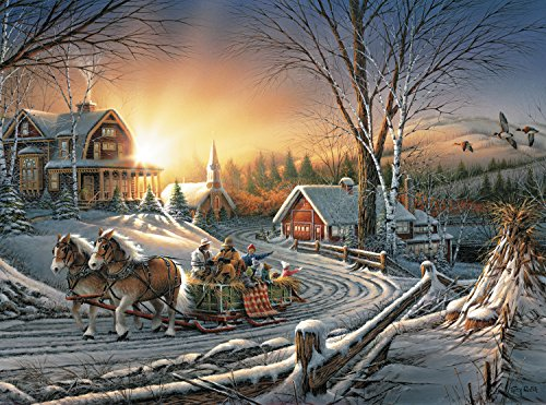 Buffalo Games - Terry Redlin - The Pleasures of Winter - 1000 Piece Jigsaw Puzzle]()