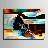 ZHANGM Dipinti ad olio astratti su tela Wall Art, pittura ad olio Moderna arte allungata e incorniciata. Pronto da appendere per Living Room Bedroom Home Decorations Wall Decor