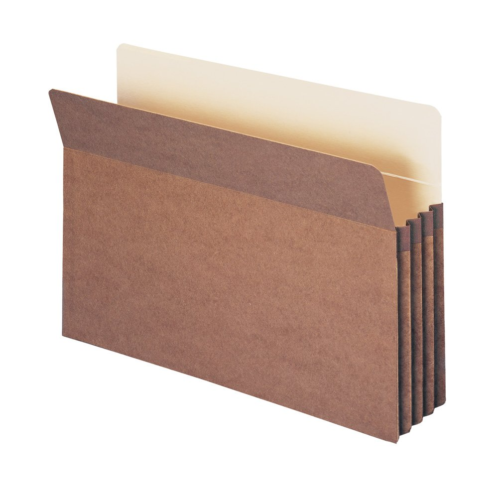 Smead File Pocket, Straight-Cut Tab, 3-1/2'' Expansion, Legal Size, Redrope, 25 per Box (74224)
