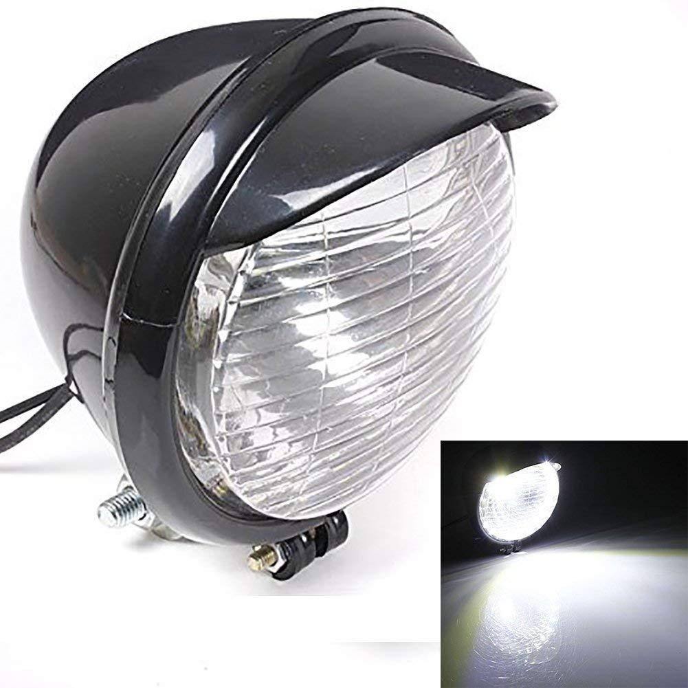 /para Harley Chopper Bobber Custom wastuo Faro de moto wastuo con 25/LED/ /Cubierta Negro/
