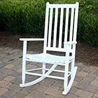 Dixie Seating Company O Slat Seat Adult Rocking Chair Black