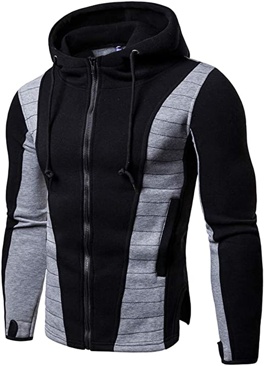 Key Note Music Tree Mens Full-Zip Hoodie Jacket Pullover Sweatshirt
