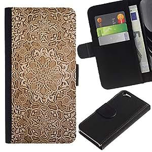 """[Neutron-Star] Modelo colorido cuero de la carpeta del tirón del caso cubierta piel Holster Funda protecció Para Apple (4.7 inches!!!) iPhone 6 / 6S [Fondo de pantalla de talla de madera de Brown Diseño Arte""""]"""