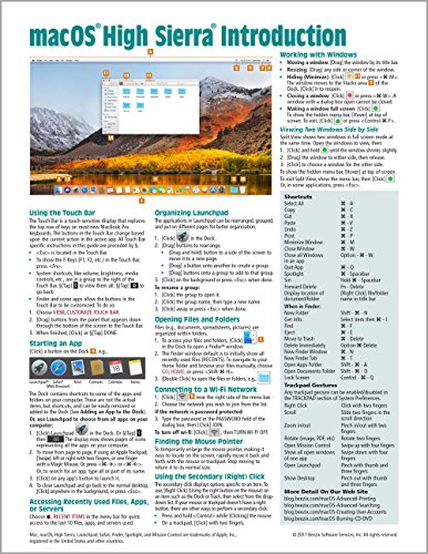 High Sierra Guide - macOS High Sierra Introduction Quick Reference Guide (Cheat Sheet of Instructions, Tips & Shortcuts - Laminated Guide)