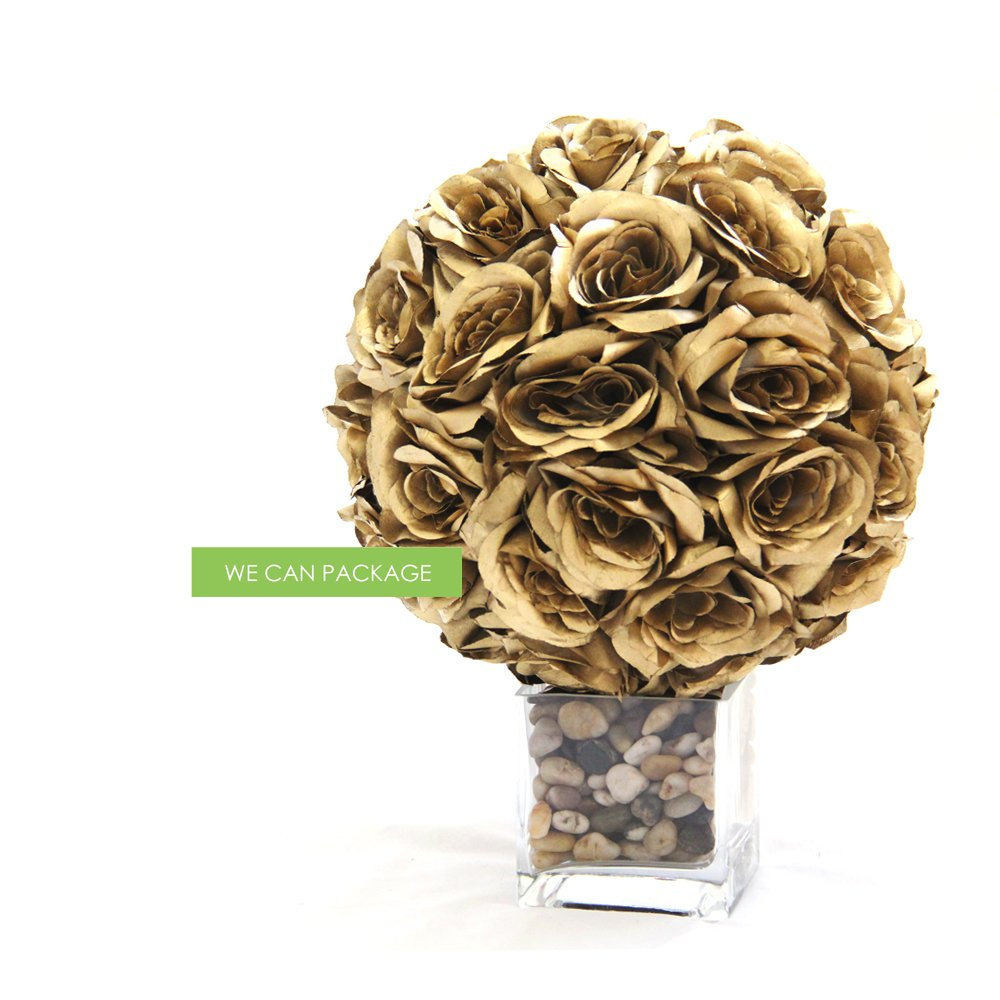 12 Inch Silk Rose Pomander Kissing Balls For Wedding Centerpieces