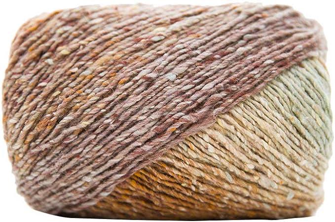 Healifty Hilo de Tejer Algodón Gradiente de Color Crochet Hilo Costura Mano Diy Manualidades Artesanales Suministros para Bufanda Sombrero Suéter Manta Estilo 8: Amazon.es: Hogar