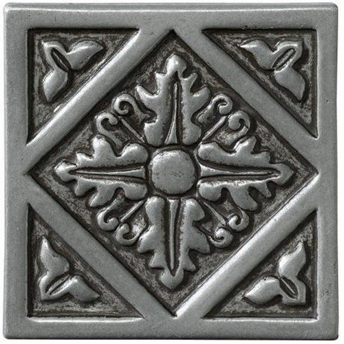 Marazzi Romance Collection Insert Decorative Accents, 1 x 1, Nickel Diamond