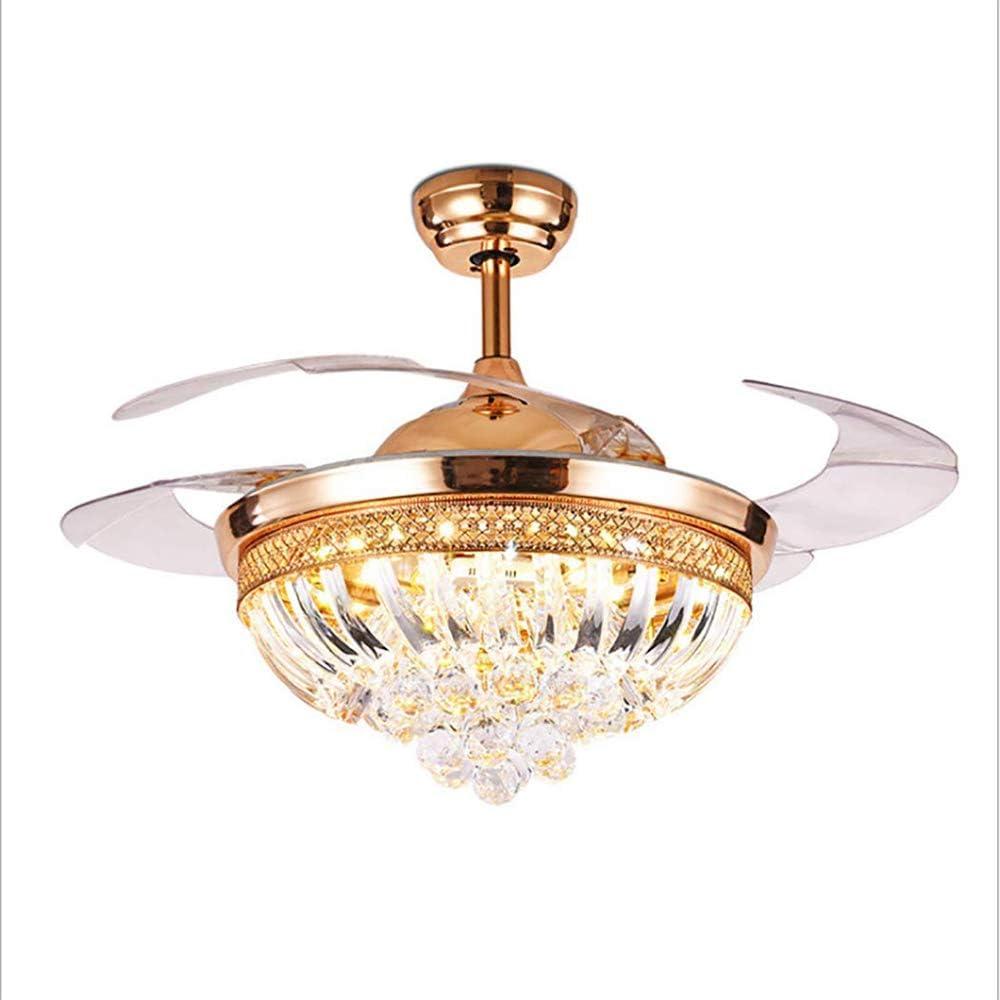 MBESSR 42 Cristal Ventilador luz Invisible retráctil lámina ...