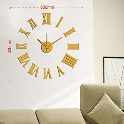 Shuangklei Relojes De Cocina Reloj Pared Vintage Wall Sticker Clock Vintage Watch Clock