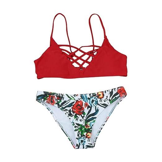 51c62c17b0 RAISINGTOP Women Ladies Sexy Push-Up Padded Halter Tops Bikini Set Beach  Swimsuit Swimwear Separates