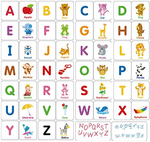 Loobani 174pcs Alphabet Flash Card For Toddler Preshool Early Learning Shape Color Recognition Puzzle, Kid Baby Number Letter Sorter Toys, Explore the World Nature with Fun, Intelligence Education Set