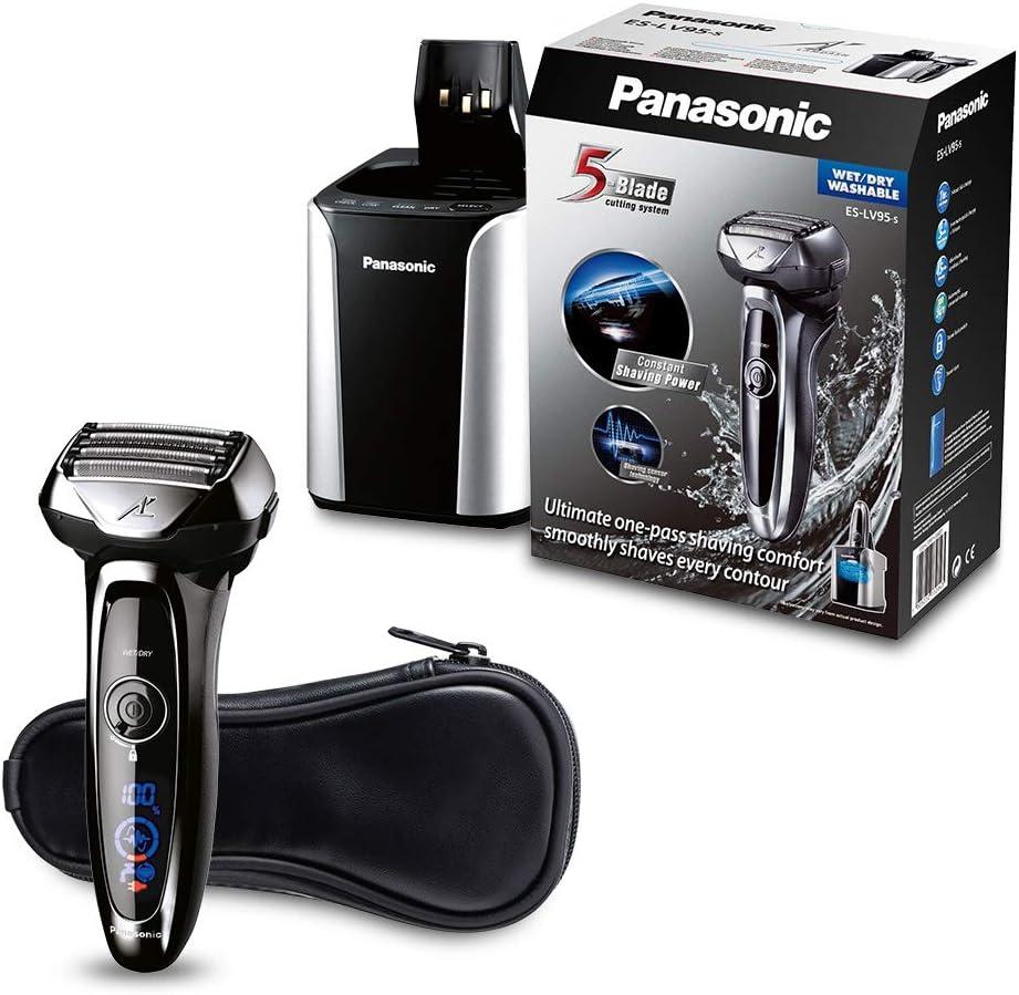 Panasonic ES-LV95 - Máquina de Afeitar de Láminas Recortadora, Afeitadora (LED, Batería, Ión de Litio, 1 h) Color Negro (Versión Importada)