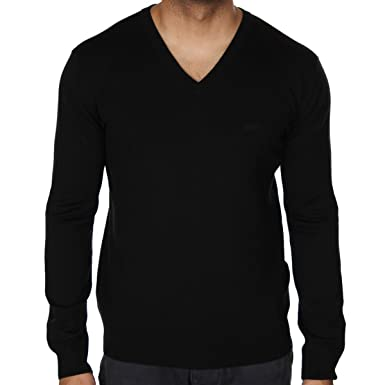 429db6f023fc Armani Jeans - Pull - Pull - Manches Longues - Homme Noir 12 Black - Noir