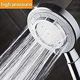 Shower Head,Universal Bath Shower High Pressure Water Saving 3 Mode Function Spray Handheld Showerheads for Dry Skin & Hair by Nosame