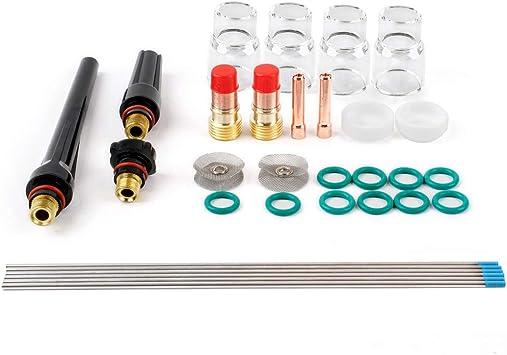 21p TIG Welding Torch Stubby Gas Lens Kit For Tig WP-17//18//26 Series WT20 US