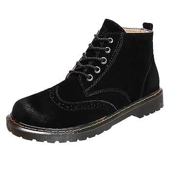LuckyGirls Botas Botas de Media Caña Retro Zapatillas Casual Calzado Moda Zapatos Planos Botines Cargo de los Hombres Estudiante: Amazon.es: Deportes y aire ...