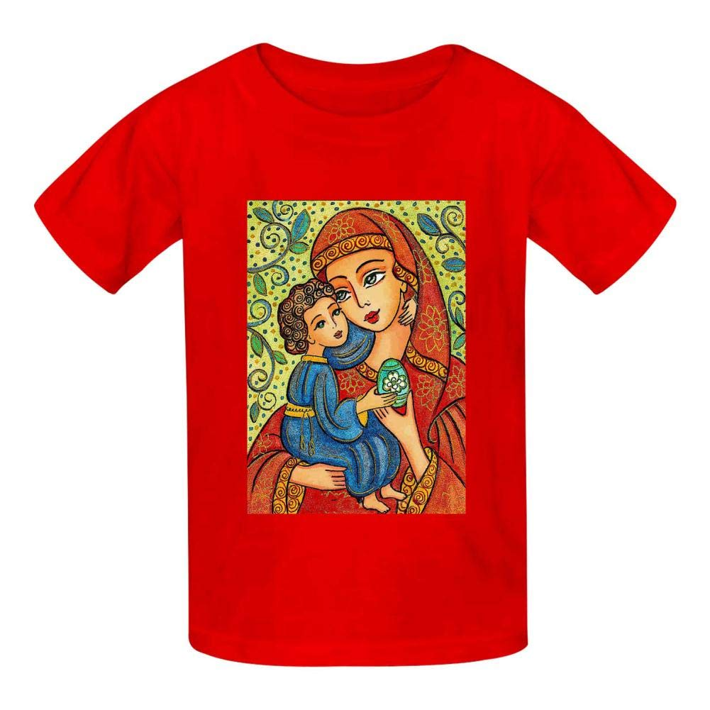 Alpaca AIAILLLL Virgin Mary and Fashion Childrens T-Shirts for Casual Pug Narwhal