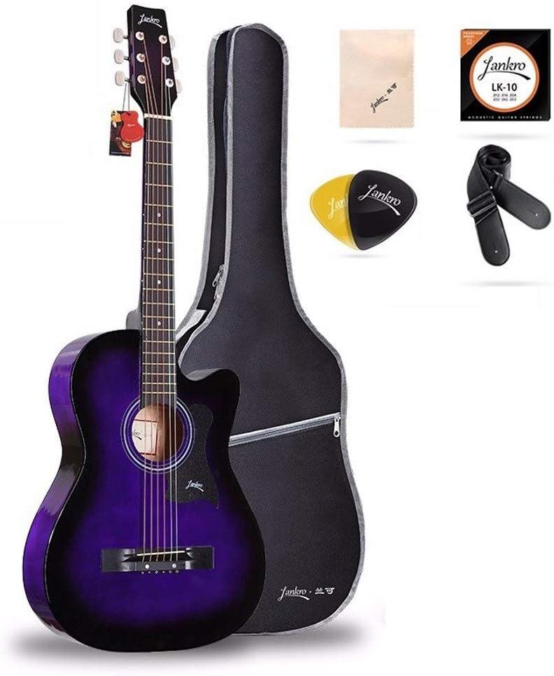Boll-ATur Guitarra acústica for principiantes de color púrpura ...