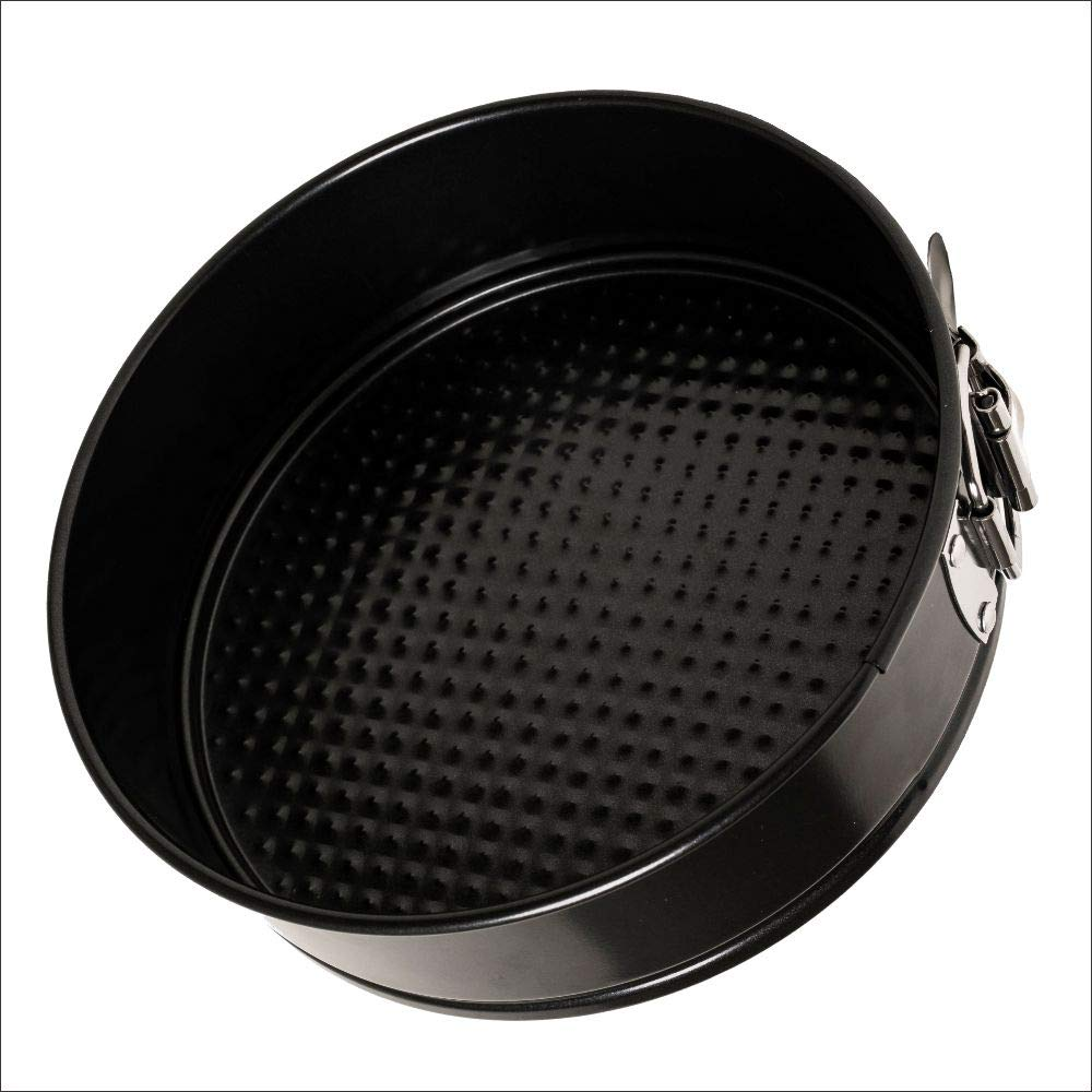 Insignia Bakeware Non-stick Springform Pan – 7 Inch Leakproof Round Cheesecake Cooking Accessory with Removable Waffle Bottom and Quick-Release