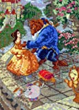 MCG Textiles Disney Dreams Collection By Thomas Kinkade  Beauty and The Beast Vignette 5x7  18 Count