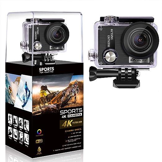 HUIGE 4K cámara de acción Deportiva Ultra HD videocámara 16MP WiFi ...