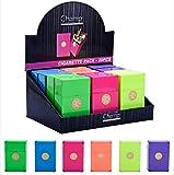 Etui à paquet cigarettes en plastique couleur métallisée capacité 20 cigarettes 100'S modèle au choix avec 1 cadeau bonus (Vert)