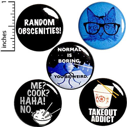 Funny 5 Pack Backpack Pins Buttons 1 Inch     - Amazon com