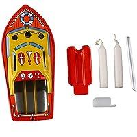 DingLong Vintage Boot Dampf Powerd Kerze Boot Spielzeug, Sammlerstück Boot pädagogische Recycling Retro Zinn Boot Spielzeug Geschenk