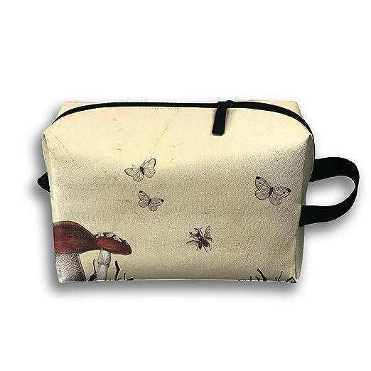 86d461d3f73b Amazon.com: Fantasy Mushrooms Travel Bag Cosmetic Bags Brush Pouch ...