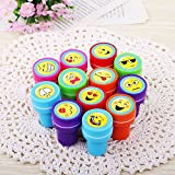 Best Kindergarten Supplies - Lanlan 60pcs Plastic Stamps Different Emoji Patterns Print Review