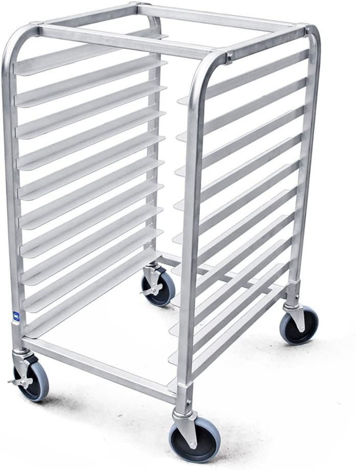Amazon Com New Star Foodservice 36510 Commercial Kitchen 10 Tier Bun Pan Rack Sheet Pan Rack With Brake Wheel Home Kitchen