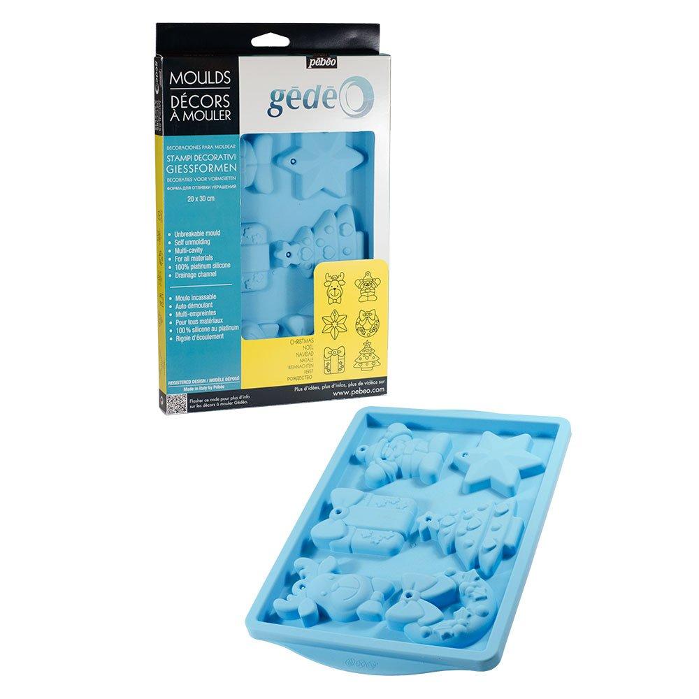 gedeo - Stampo decorativo natalizio, 30 x 20 cm, colore: Blu Pebeo 766128