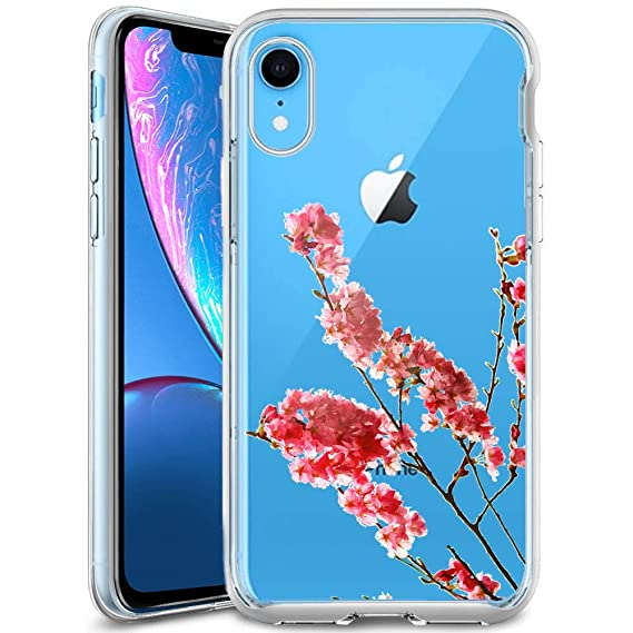 wholesale dealer a6ee9 683c4 Amazon.com: Phone Case iPhone Xr Beautiful Cherry Blossom Branch ...