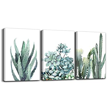 Canvas Wall Art for living room bathroom Wall Decor for bedroom kitchen artwork Canvas Prints green plant flowers painting 12  x 16  3 Pieces Modern framed office Home decorations family picture