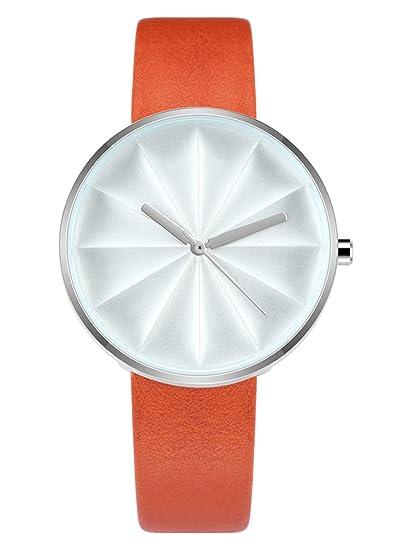 Mujer relojes marca de lujo relojes de cuarzo reloj de pulsera para mujer de chica moda y piel de Casual reloj de pulsera reloj Relogio Feminino: Amazon.es: ...