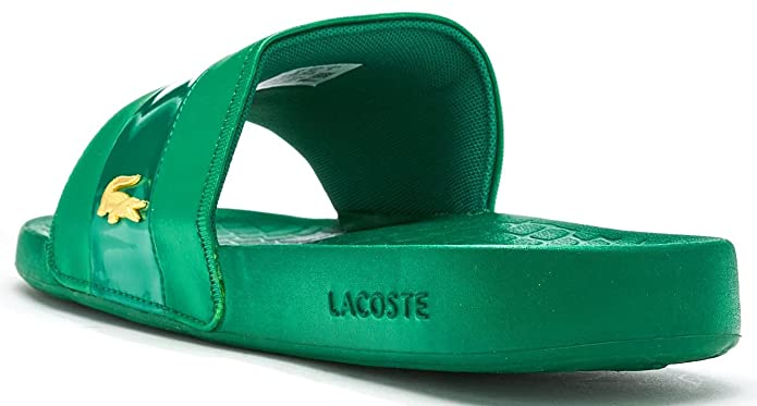529c09c62f01 Lacoste Fraisier 118 U Slide Pool Beach Sandals in Green   Gold Deluxe  735CAM0128 GG4  Amazon.co.uk  Shoes   Bags