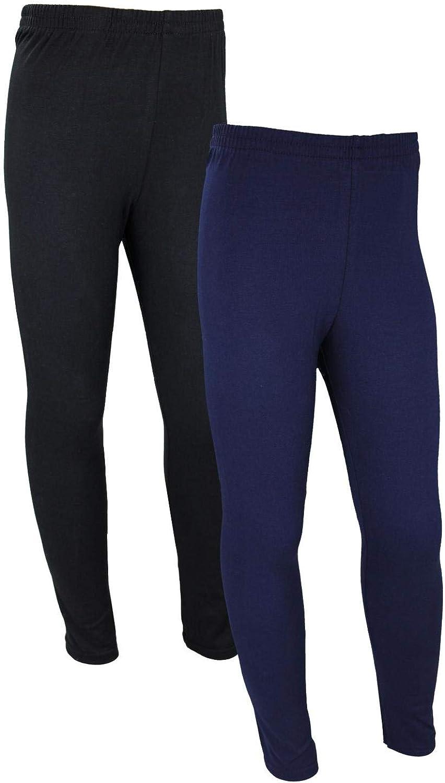 TupTam M/ädchen Lange Leggings Unifarbe 2er Pack