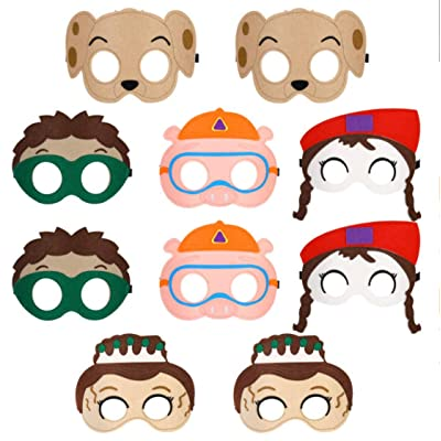 All Star Games Felt Masks for Super Why Party - 10 Masks - Comfortable, One-Size-Fits-Most Design - Premium Quality Eco-Felt and Fleece. Great for Birthday Gift, Party Favor, Cosplay: Clothing