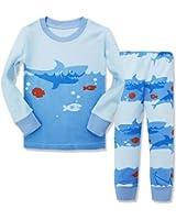 com hugbug toddler boys shark pajama set t clothing dreamaxhp shark little boys cotton sleepawear pajamas set